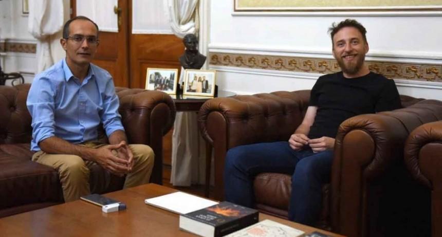 Federico Otermín y Marcos Pisano se reunieron en la Legislatura Bonaerense