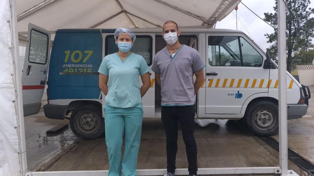 Augusto Ortega y Desiré Santaella: Médicos Venezolanos trabajando contra el COVID19 en Bolívar