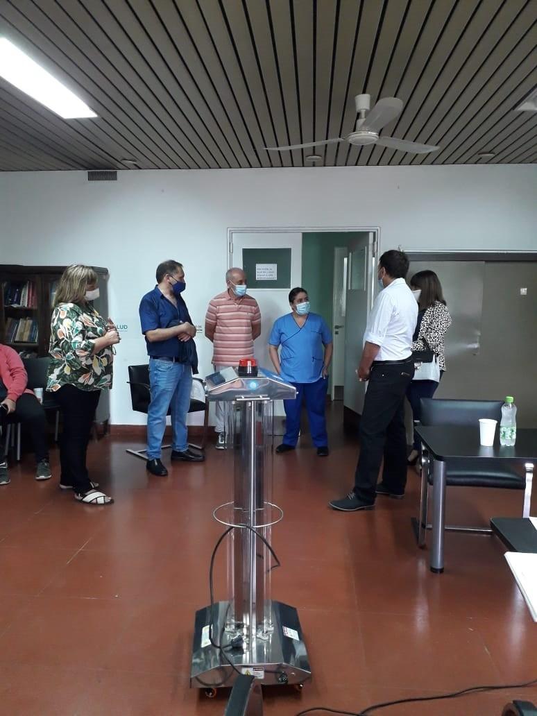 El Hospital de Bolívar recibió la donación de una máquina UVE TEC: Desinfección mediante Rayos Ultravioletas