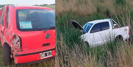 Ruta 65: Impacto y despiste al colisionar dos vehículos que viajaban en mismo sentido