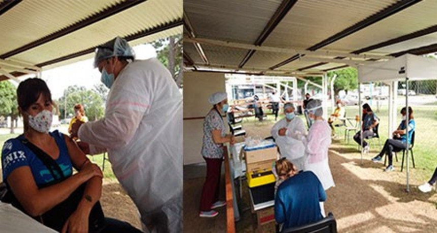 Vacunación COVID19: se llevó a cabo el operativo de inmunización para el personal de los geriátricos locales