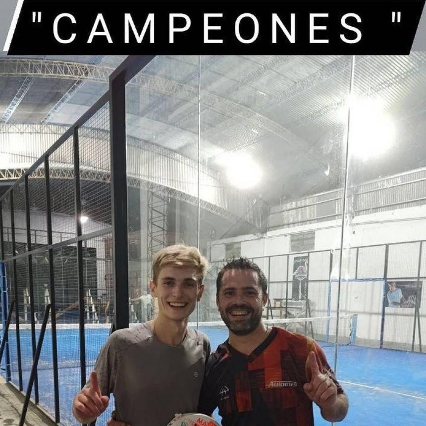 Dos bolivarenses ganaron un Torneo de Padel en Olavarría