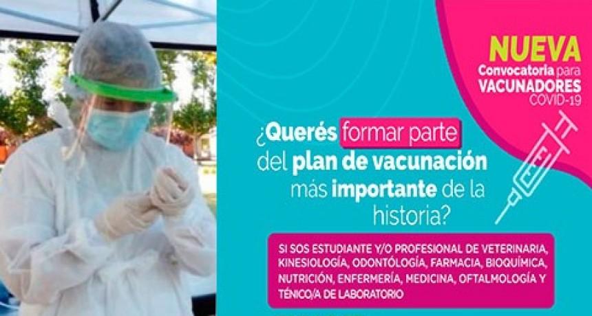La gestión municipal convoca a estudiantes y profesionales afines a la salud, a realizar la capacitación de vacunadores eventuales.