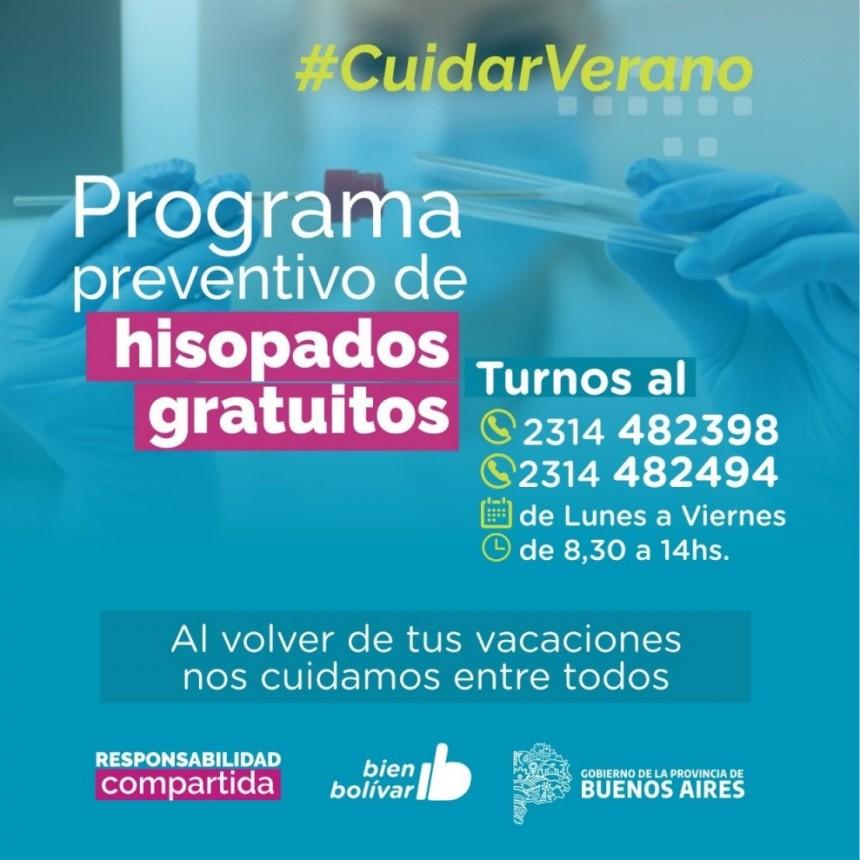 Seguimos cuidando a los bolivarenses: en este caso el Municipio pone a disposición hisopados gratuitos para quienes regresan de vacaciones