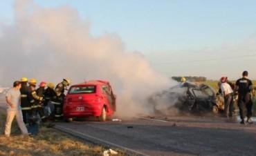 Varios muertos en un grave accidente en ruta 85