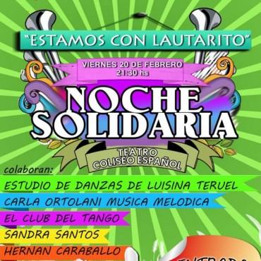 Noche solidaria en colaboración con la familia de Lautaro López