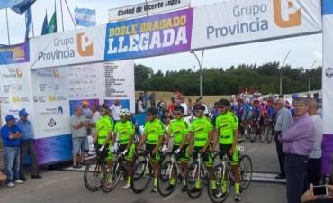 Ciclismo Doble de Bragado: El 'Negro' Juan Pablo Dotti, con buena performance
