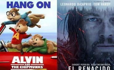 Alvin y Las Ardillas; una aventuras sobre ruedas, y El Renacido, los estrenos del Cine Avenida