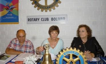 Rotary Club Bolívar: La Gobernadora del Distrito, visitó la sede local