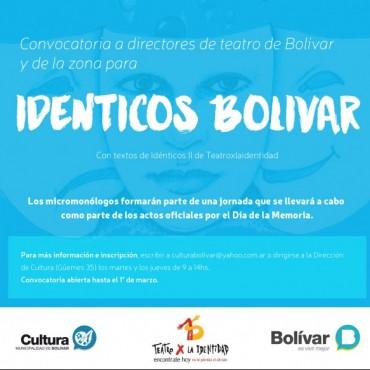 """Se realizará la propuesta teatral """"Idénticos Bolívar"""""""
