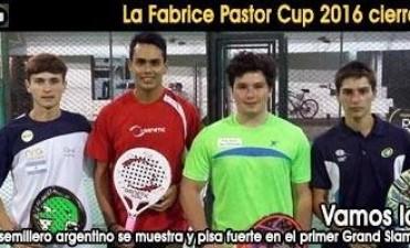 Tirso Pato  juega la final de 'La Fabrice Pastor Cup 2016'
