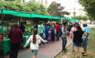 Un sábado más, la feria verde presente en el Centro Cívico