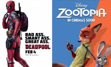 Zootopia y Deadpool llegan al Cine Avenida