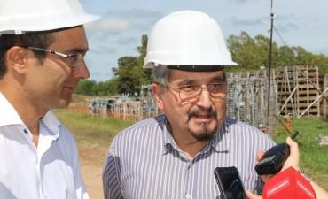 Marcos Pisano visitó la obra de la Estación Transformadora de energía eléctrica