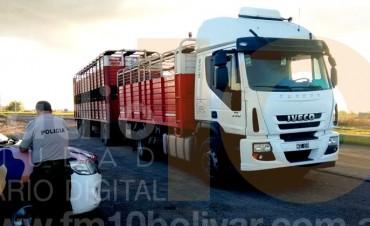 CPR: Dos camiones demorados por Infracción a la Ley de Guías