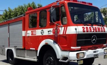 Accidentes vehiculares e incendios forestales, en el Parte de Prensa de Bomberos
