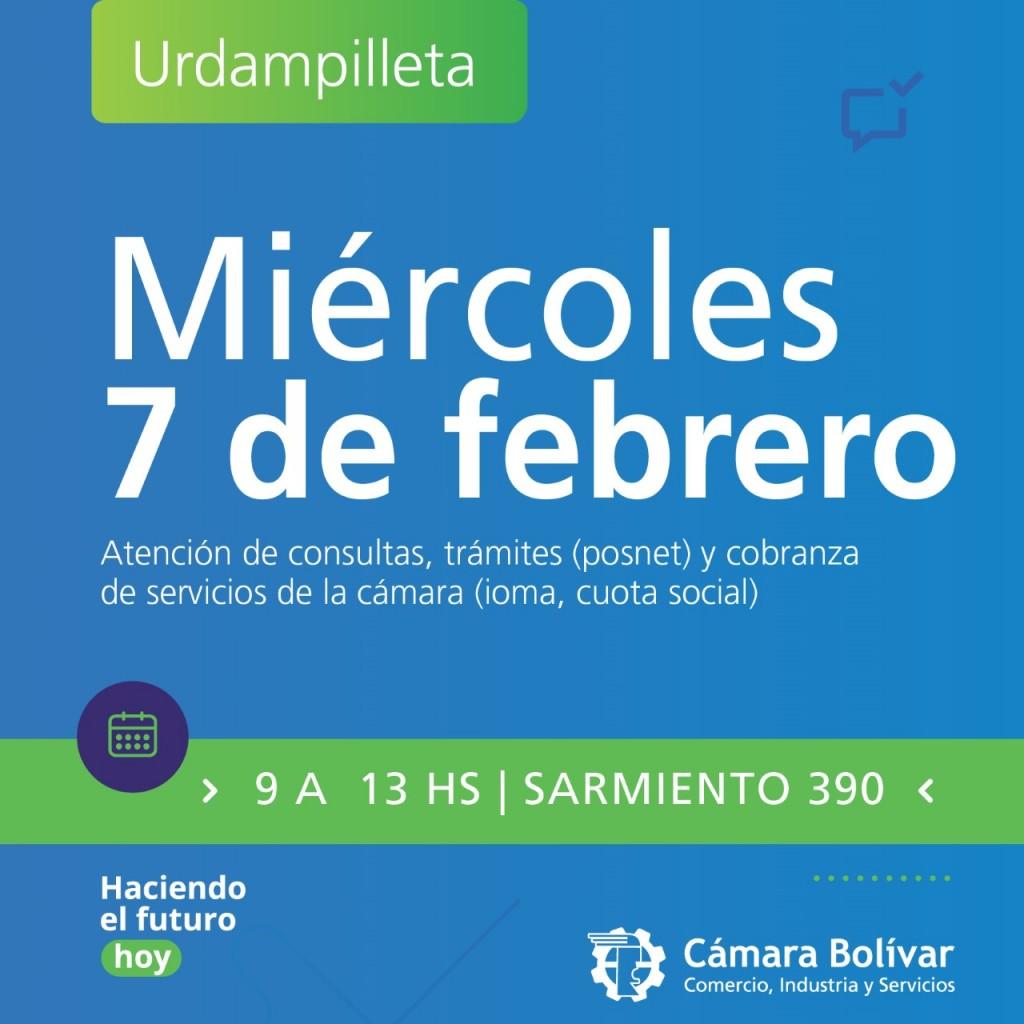 Hoy la Cámara tendrá abierta su sede en Urdampilleta