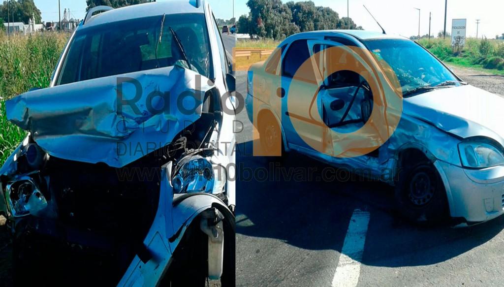Violento impacto en la Ruta 65 y avenida Coliqieo