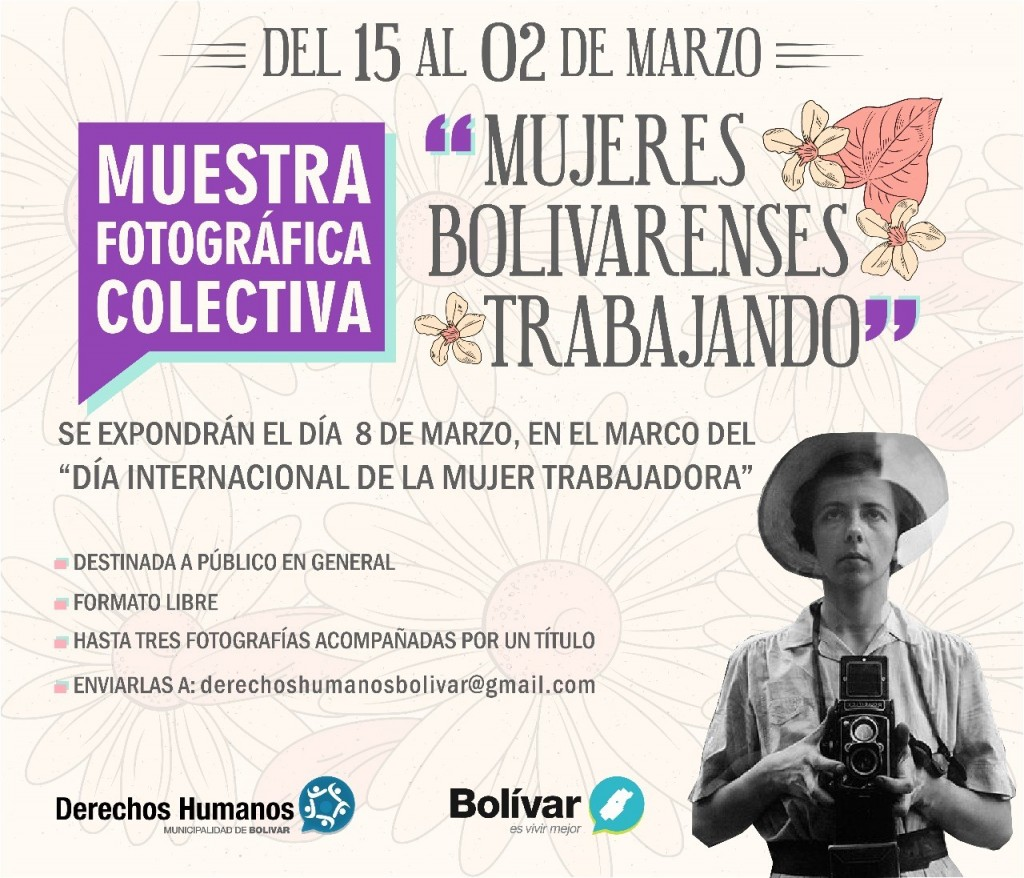 "Muestra fotográfica colectiva ""Mujeres bolivarenses trabajando"""