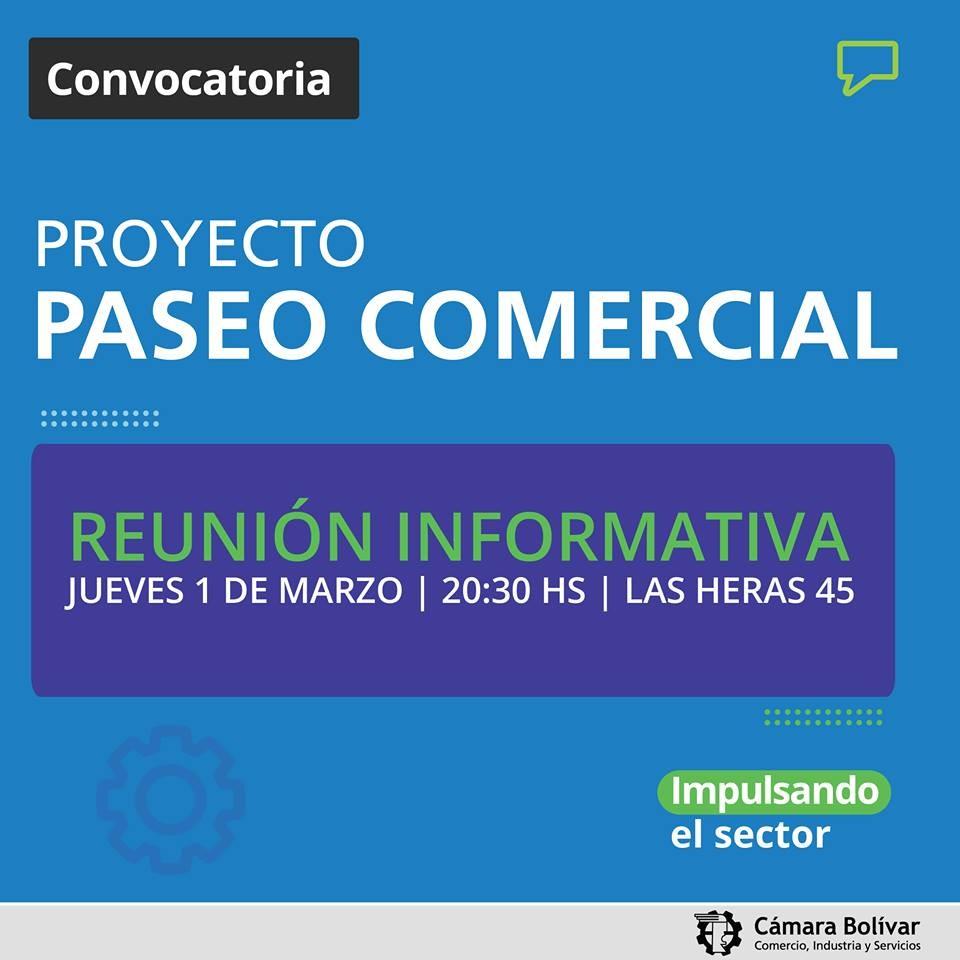 """Proyecto """"Paseo Comercial"""" este jueves"""