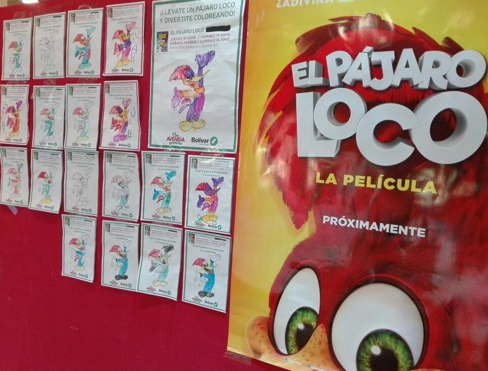 Los chicos de los CAIs vieron El pájaro loco en el Cine Avenida