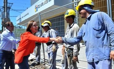 María Eugenia Vidal recorrió una obra hidráulica en La Plata