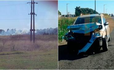 Bomberos Voluntarios: Asistieron a incendios forestales y accidentes en Ruta 65