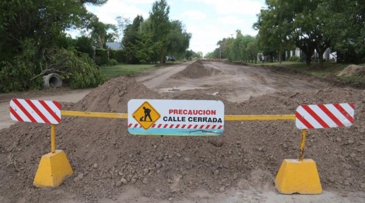 Siguen las obras en barrio La Ganadera