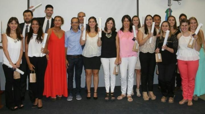 Pisano participó del acto de colación junto a 15 nuevos contadores