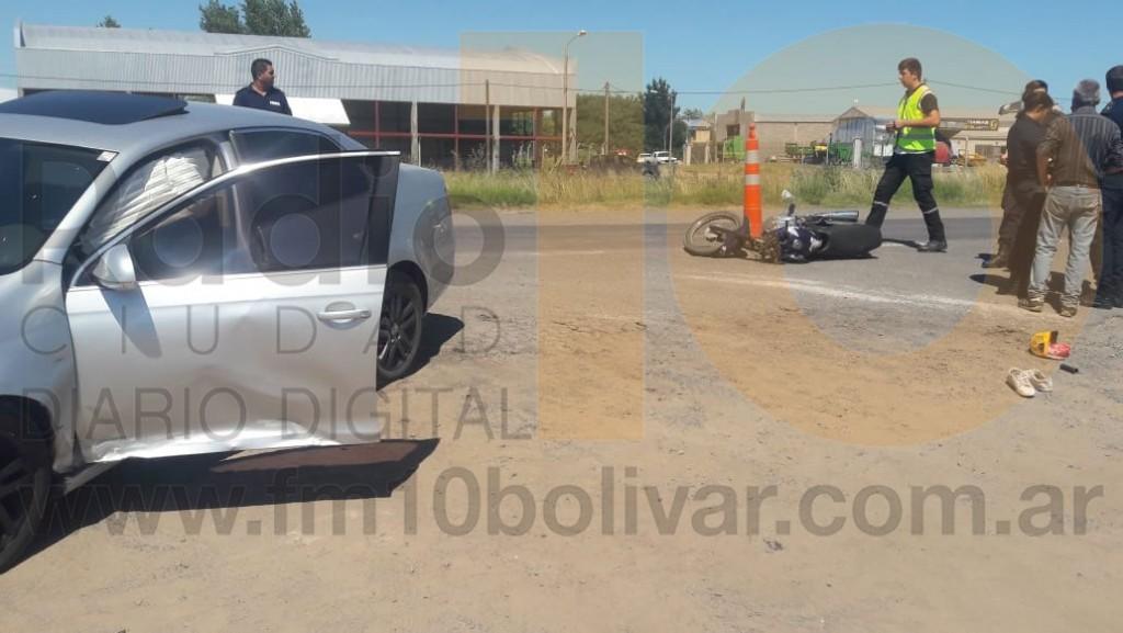 Impacto en Ruta 226 km 398,5: Un motociclista fue derivado al hospital