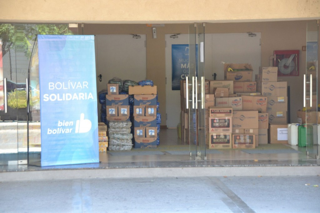 Las donaciones que hicieron los bolivarenses ya están camino a Chaco