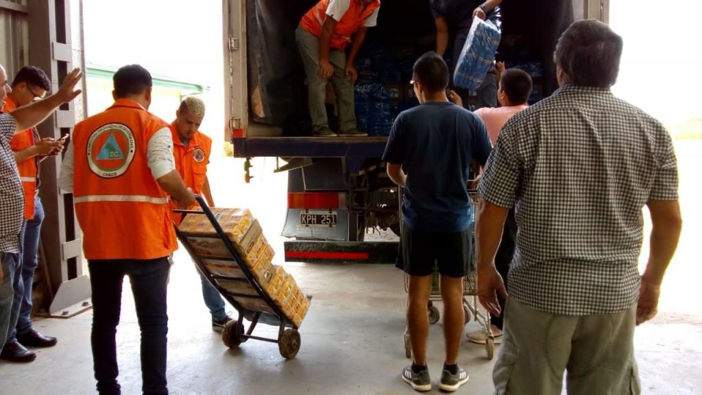 Chaco recibió las donaciones que partieron de Bolívar