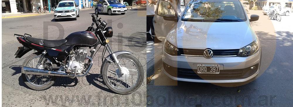Motociclista hospitalizado tras colisionar en San Martin y Dorrego