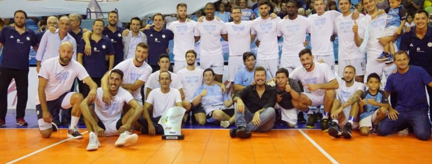 Bolívar festejo la Copa Libertadores de Voley junto a las águilas