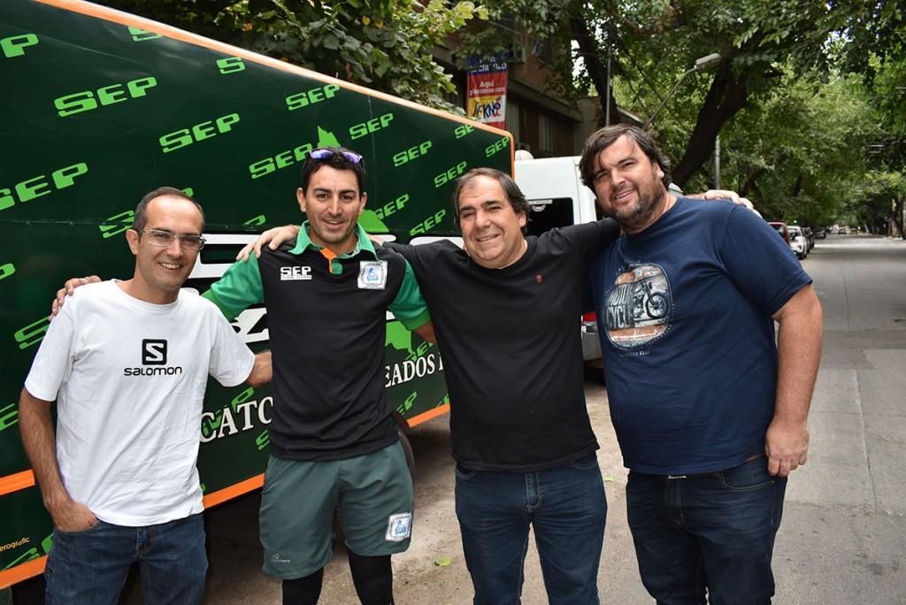 Marcos Pisano viajó a Mendoza para acompañar a Juan Pablo Dotti