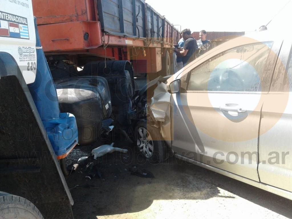 Accidente en Ruta 226 km 390: Ningún conductor resulto herido