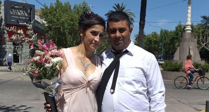 Daniel y Estefanía se casaron hoy 14 de febrero