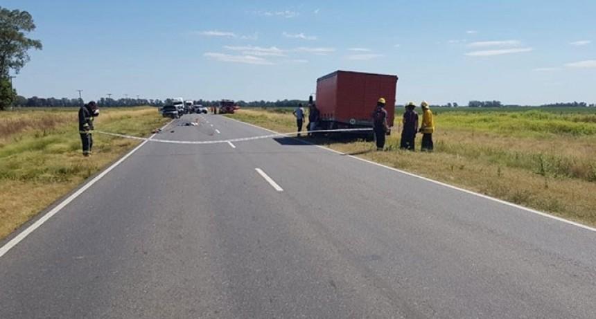 Bonifacio: Accidente fatal en Ruta 65 Km 382