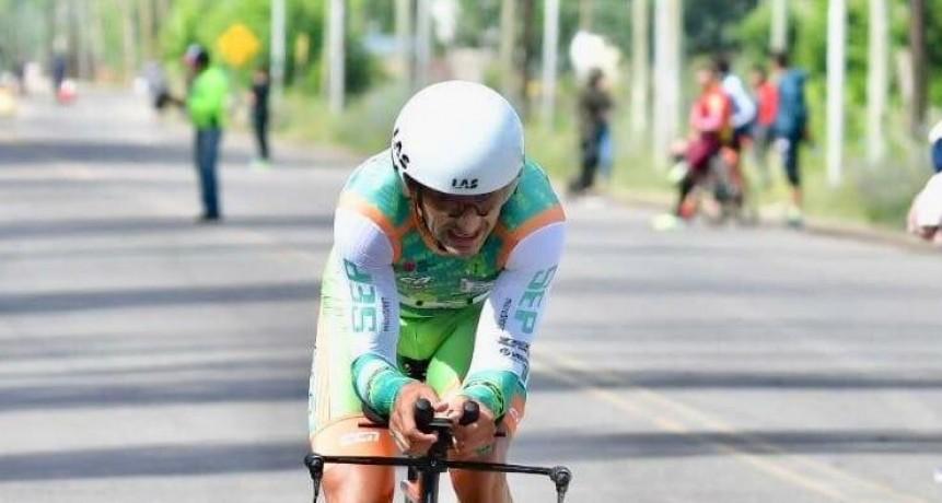 Juan Pablo Dotti se quedó con la etapa contrarreloj individual y el liderazgo en la general de La Vuelta de Mendoza