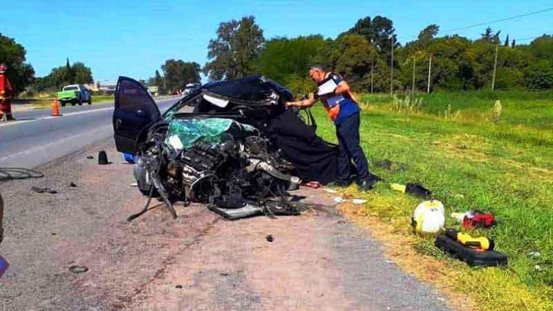 Suipacha: Un fallecido fue el saldo de un violento accidente sobre Ruta N.º 5