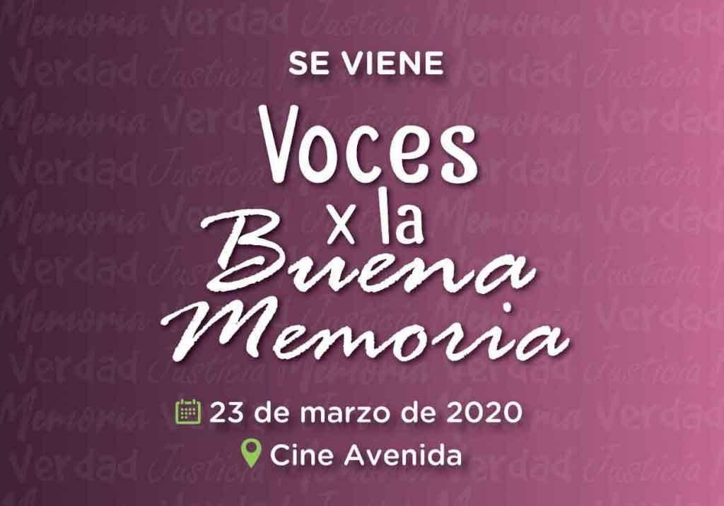 Sigue abierta la convocatoria de actores y actrices para Voces x la Buena Memoria