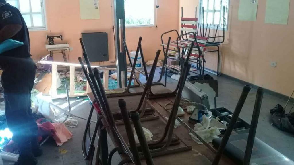 Robo y daños en el taller de la Escuela de Educación especial N.º 502