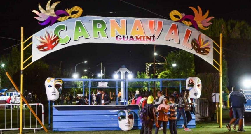 Más Arte y Alegría en Guamini; Nuevo fin de semana de carnavales 2020