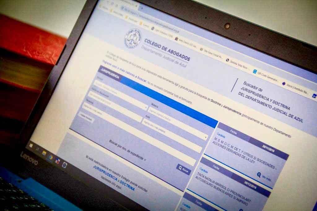 El Colegio de Abogados de Azul ofrece nuevo servicio de buscador digital