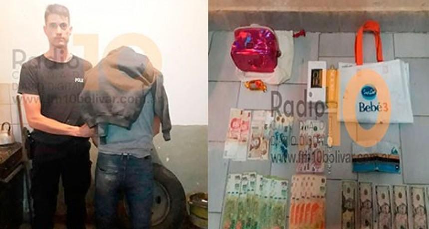 Sub DDI de Bolívar: Detuvieron en Azul a un delincuente que robó en Bolívar una importante suma de dinero