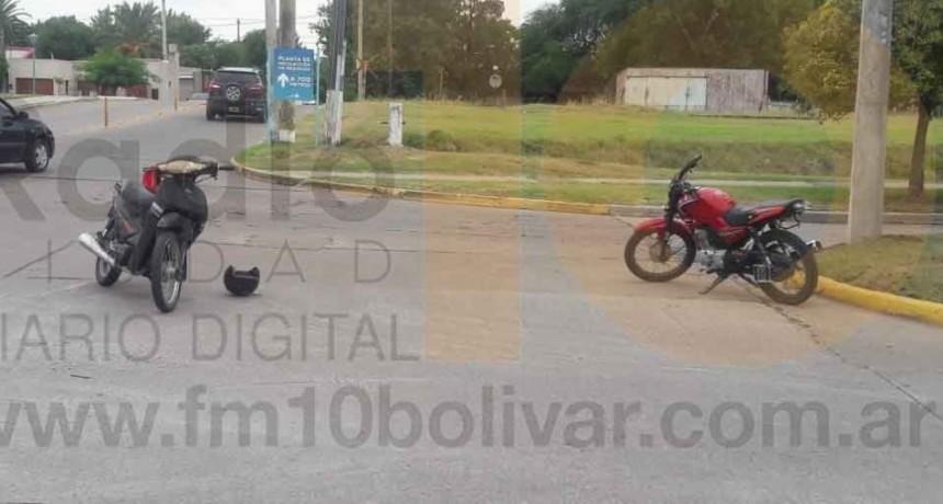 Impacto entre dos motos dejó como saldo una persona hospitalizada