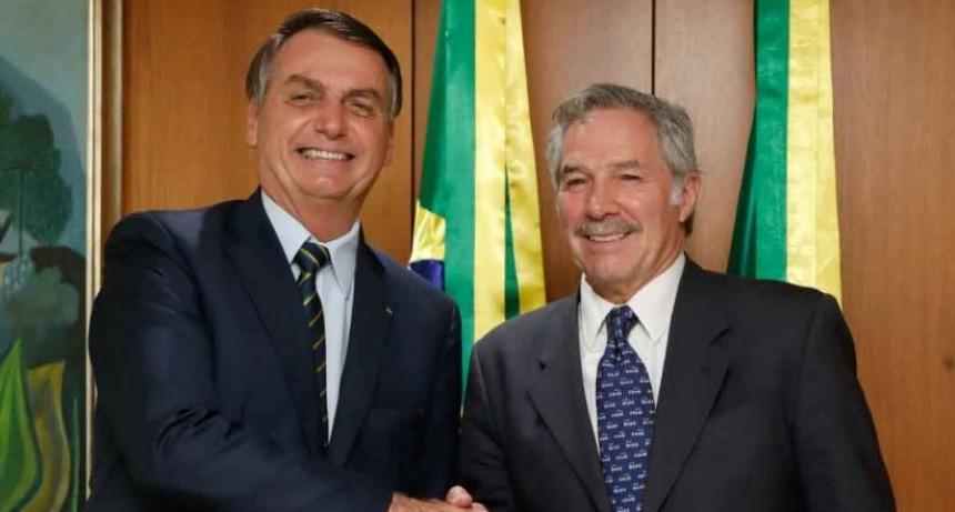 El Canciller Solá fue recibido por el Presidente Bolsonaro en el Palacio del Planalto