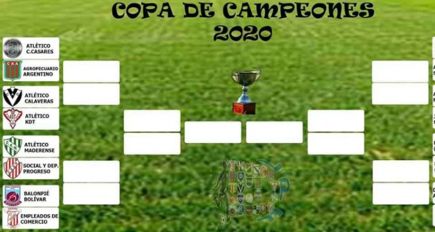 Copa de Campeones; Balonpie es local ante Empleados en la primera fecha