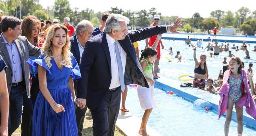 El Presidente encabezó la puesta en valor del Centro Recreativo Nacional 'Presidente Néstor Kirchner'