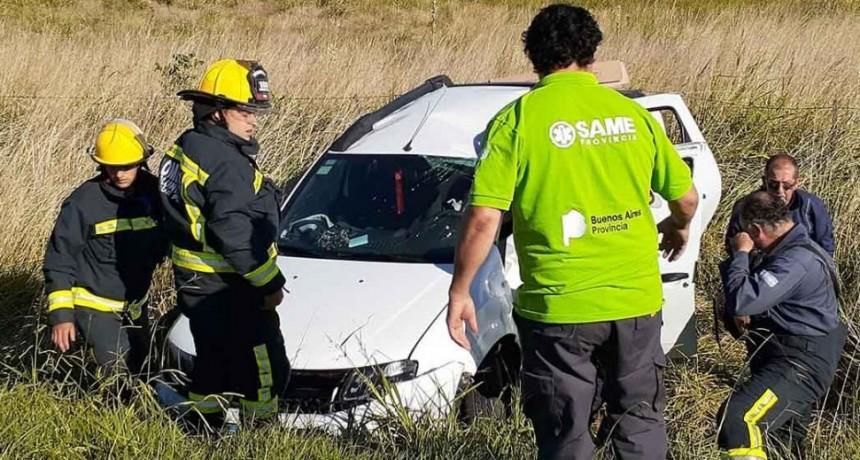 Roque Pérez; accidente en ruta 205 km 138 sin mayores consecuencias